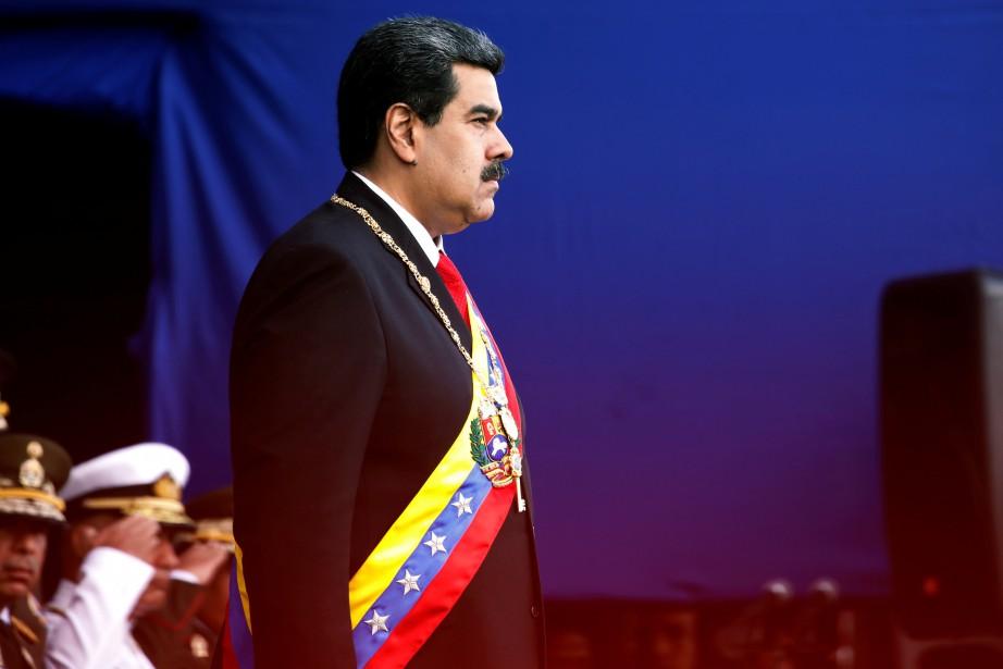 Nicolas Maduro, réélu le 20mai lors d'un scrutin... (PHOTO REUTERS)