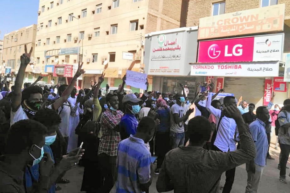 Une manifestation antigouvernementale à Khartoum, l'an dernier... (Photo archives AFP)