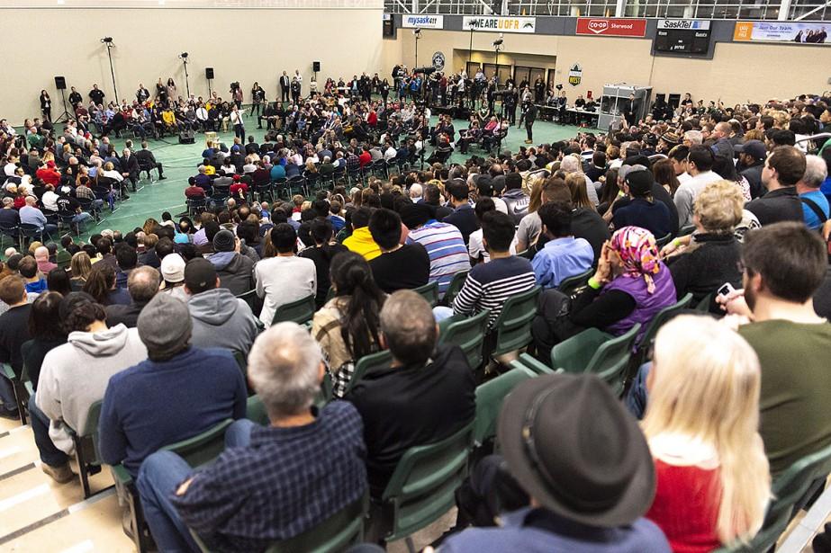 L'événement se tenait à l'Université de Régina.... (Photo Michael Bell, PC)