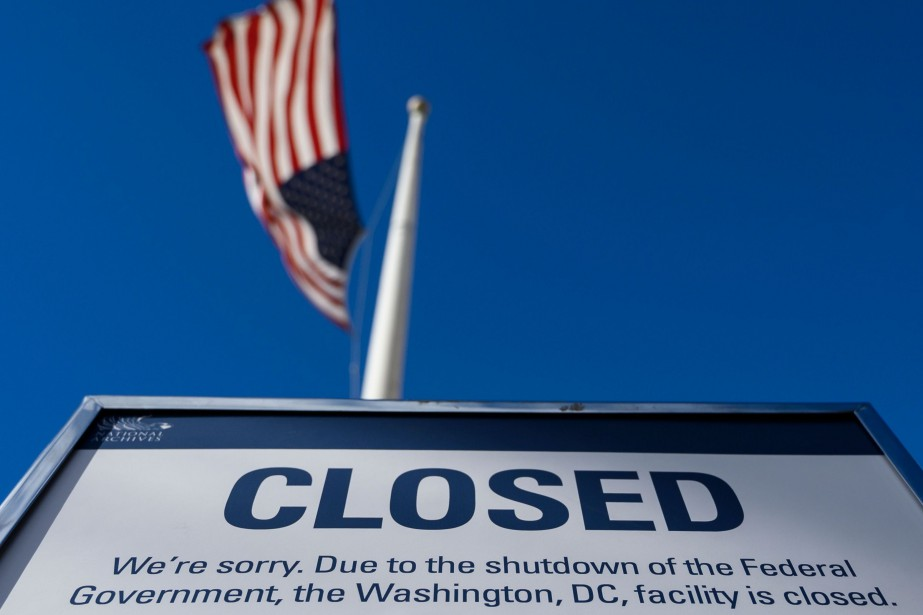 Le « shutdown » qui paralyse... (Photo ANDREW CABALLERO-REYNOLDS, archives AFP)