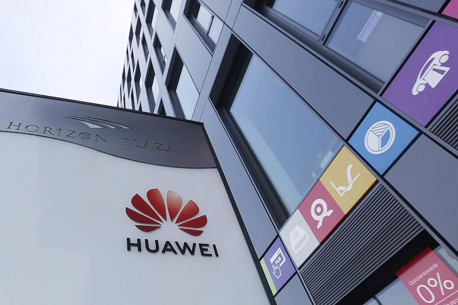 Le bureau de Huawei à Varsovie... (Photo Czarek Sokolowski, Associated Press)