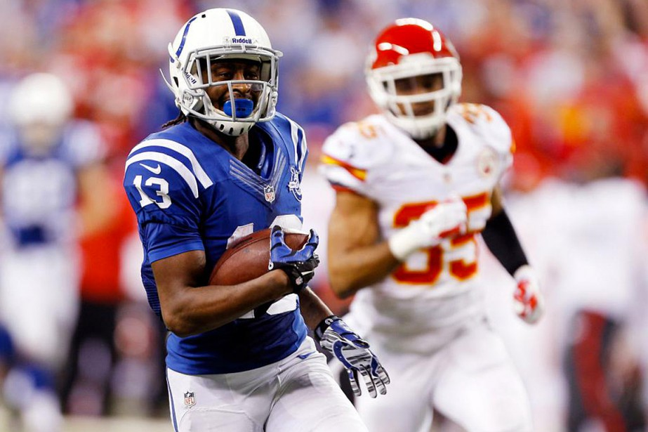 Le receveur des Colts T.Y. Hilton (13) fera-t-il... (Photo Brian Spurlock, USA Today)