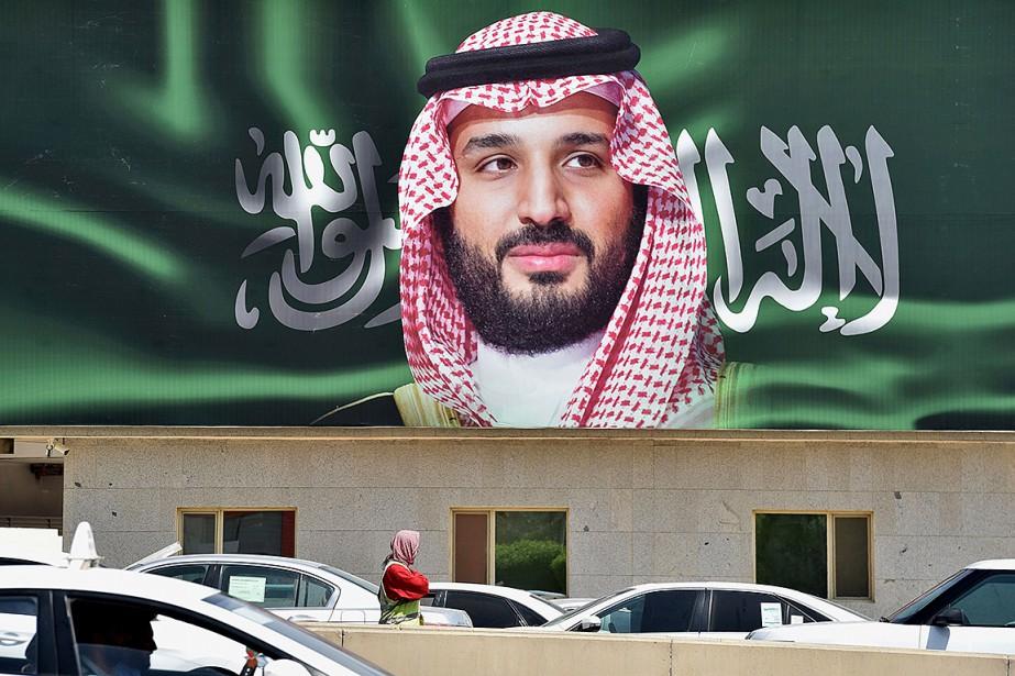 Une photo du prince héritier saoudien Mohammed ben... (Photo FAYEZ NURELDINE, archives Agence France-Presse)