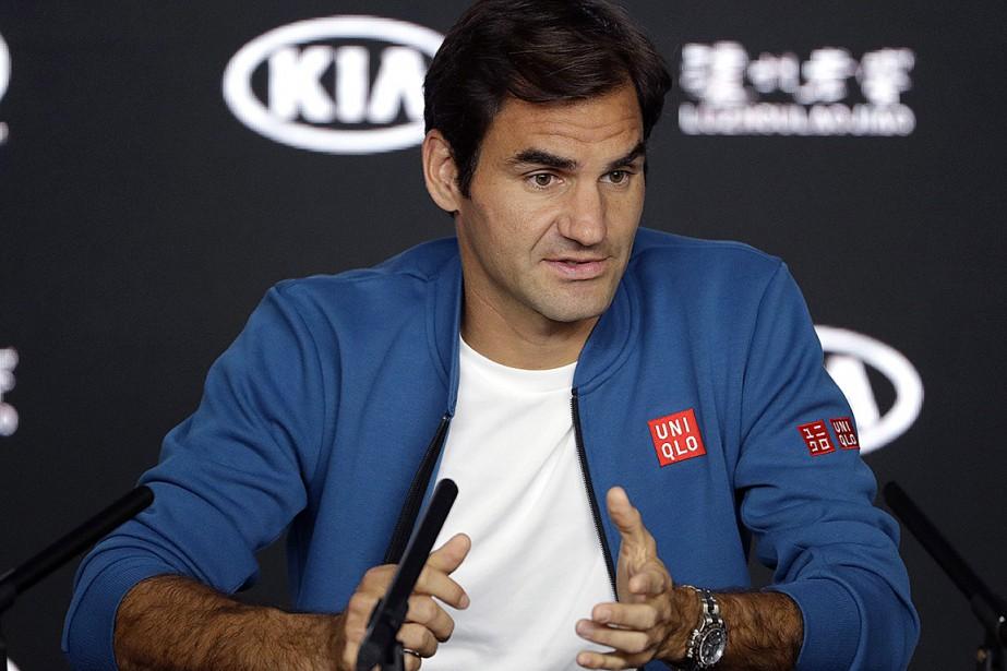 Roger Federer a rencontré la presse en marge... (Photo Mark Schiefelbein, Associated Press)