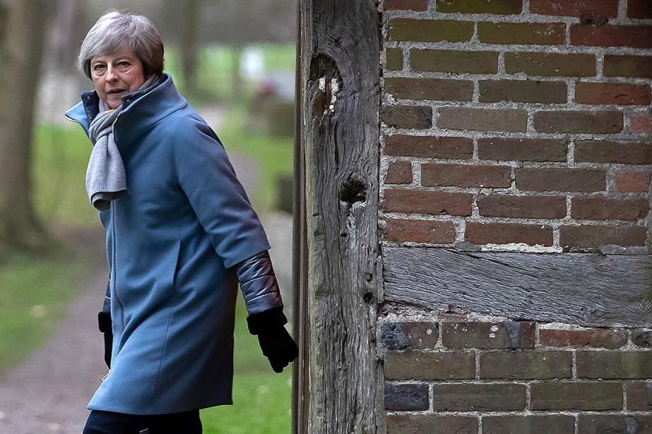 La première ministre britannique Theresa May... (Photo DANIEL LEAL-OLIVAS, Agence France-Presse)