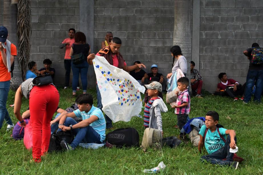 Selon l'ambassade du Honduras à Mexico, seuls 3%... (PHOTO AFP)