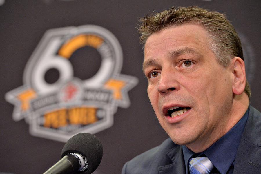 Patrick Dom, directeur du Tournoi international de hockey... (Photo Patrice Laroche, Le Soleil)
