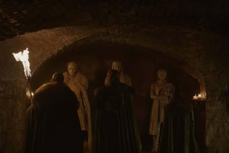 La vidéo montre Jon Snow, ainsi que Sansa... (Capture d'écran)