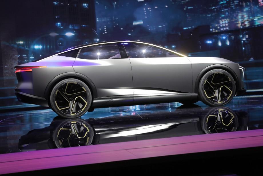 Le prototype Nissan IMs tout électrique lors de son dévoilement au Salon de l'auto de Détroit. (REUTERS)