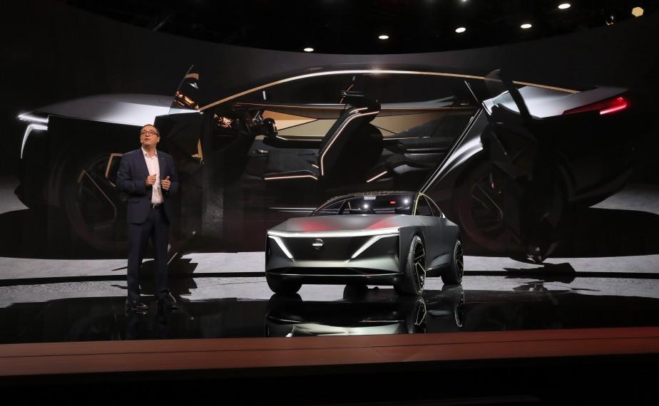 Denis Le Vot Premier vice-président de Nissan Amérique du Nord, a présenté le prototype Nissan IMsau Salon de l'auto de Détroit. | 15 janvier 2019