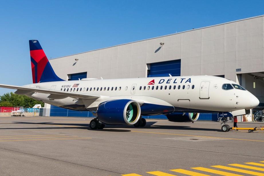 Le premier appareilA220-100 aux couleurs de Delta quitte... (Photo Airbus)