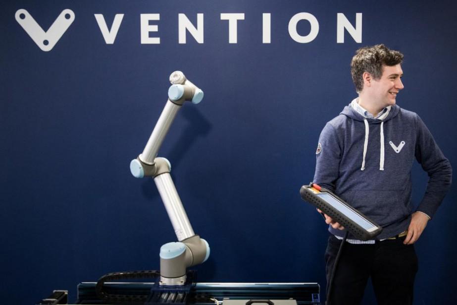 Le cofondateur de Vention Étienne Lacroix... (Photo Marco Campanozzi, La Presse)