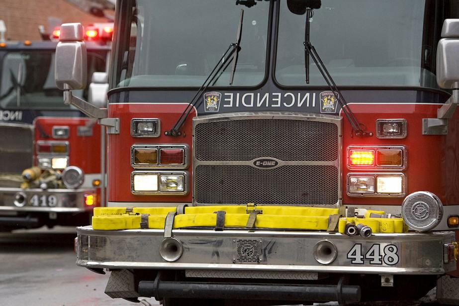 Des pompiersont retrouvé un corps... (Photo David Boily, archives La Presse)