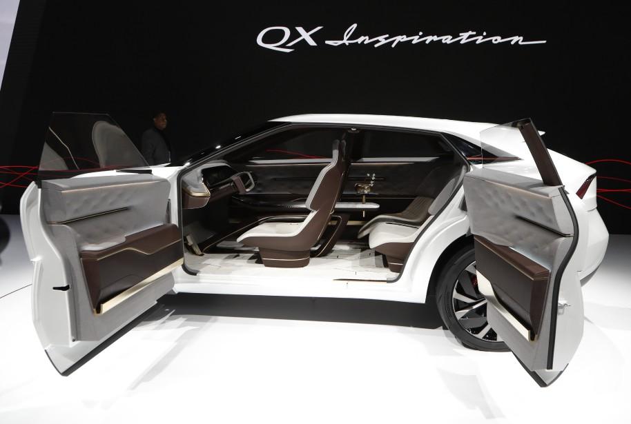 L'Infiniti QX Inspiration montré au Salon de l'auto de Détroit.... | 2019-01-16 00:00:00.000