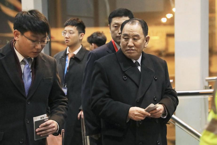 Kim Yong Chol (à droite) est le bras... (AP)