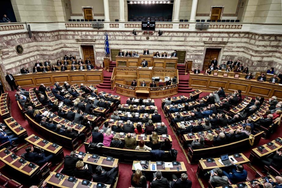 Le nom de la Macédoine, petit pays créé... (Photo LOUISA GOULIAMAKI, AFP)