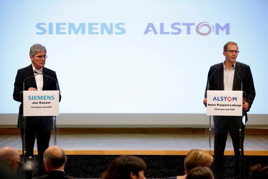 Après des semaines de spéculations, Alstom et Siemens... (Photo Stephane Mahe, REUTERS)