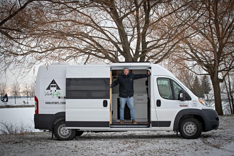 Les véhicules de Van Life Mtl sont en... (PHOTO PATRICK SANFAÇON, LA PRESSE)