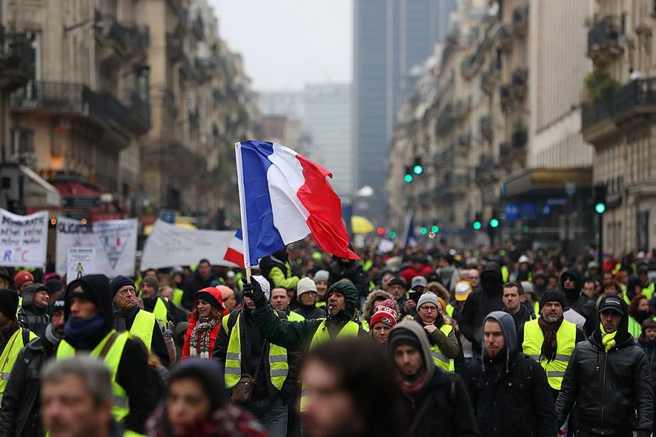 «Injustice fiscale, colère... (Photo ZAKARIA ABDELKAFI, Agence France-Presse)