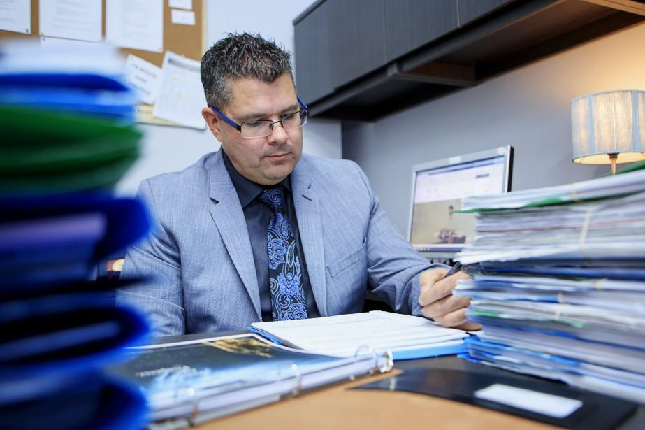 BenoitBérard, conseiller en sécurité financière à l'Équipe VIP... (Photo AlainRoberge, La Presse)