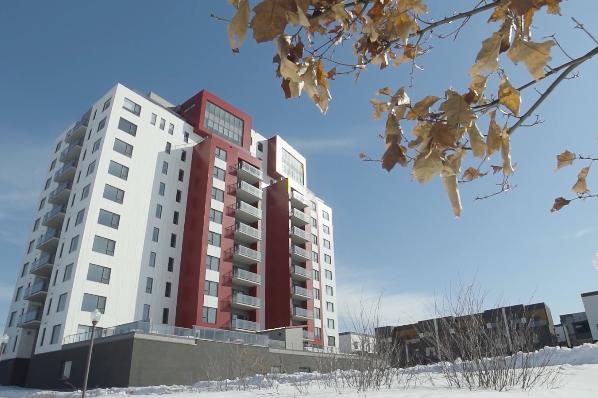 À Québec, le projet de condominiums Origine est... (Capture d'écran tirée de condosorigine.com)