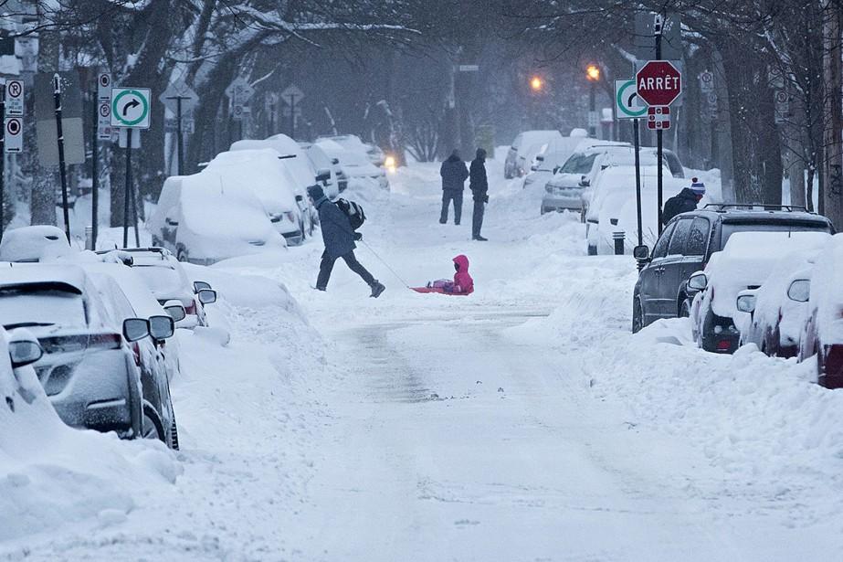 La forte tempête glaciale qui a traversé l'est... (PATRICK SANFAÇON, LA PRESSE)