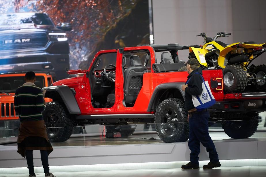Le nouveau pickup Gladiator est mis en valeur au stand Jeep. | 21 janvier 2019
