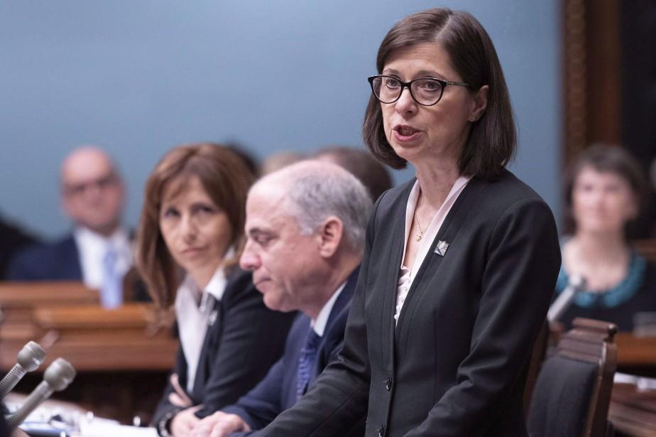 La ministre de la Santé et des Services... (PHOTO PC)