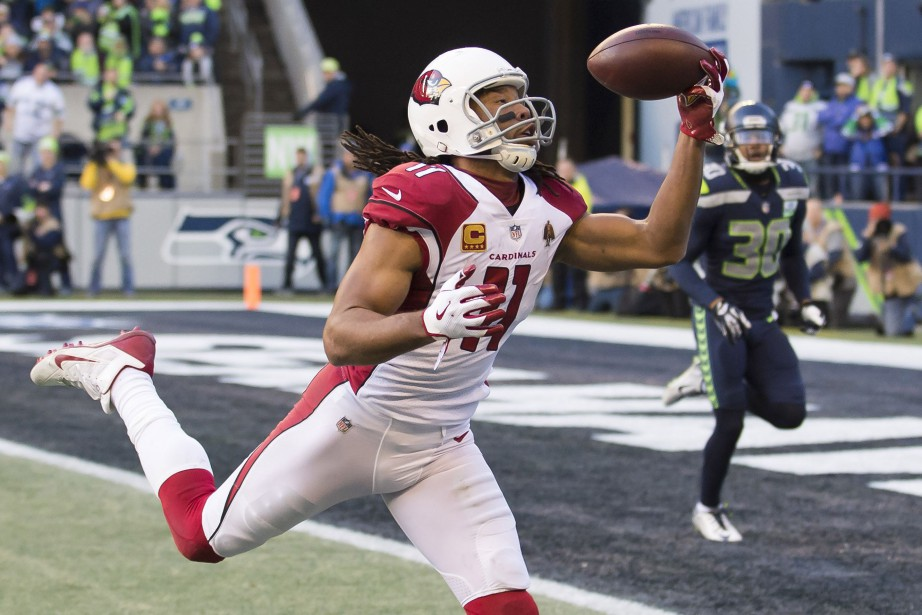 Larry Fitzgerald... (Photo Steven Bisig, USA TODAY Sports)