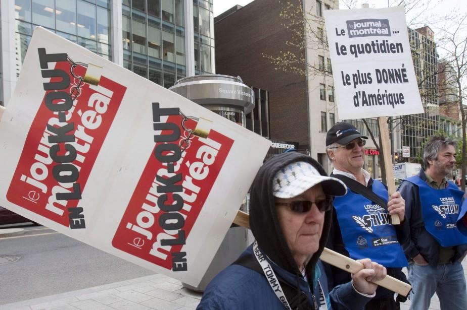 Le lock-out au Journal de Montréal a été... (Photo Ryan Remiorz, archives LA PRESSE CANADIENNE)