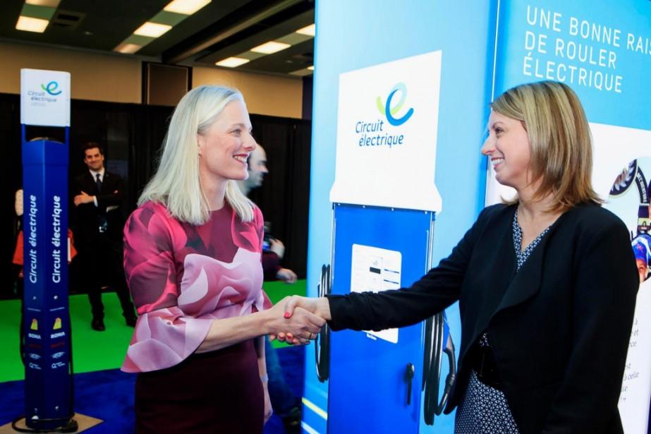 La ministre de l'Environnement Catherine McKenna (à gauche)... (Photo Alain Roberge, La Presse)