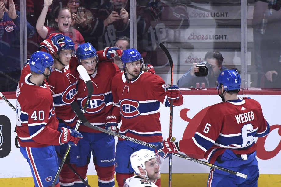 Le Canadien a atteint la pause du match... (Photo Bernard Brault, La Presse)