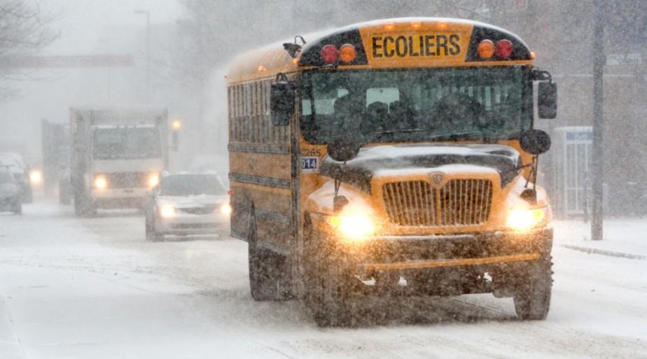 La météo n'a pas empêché les élèves du... (Photo Robert Skinner, Archives La Presse)