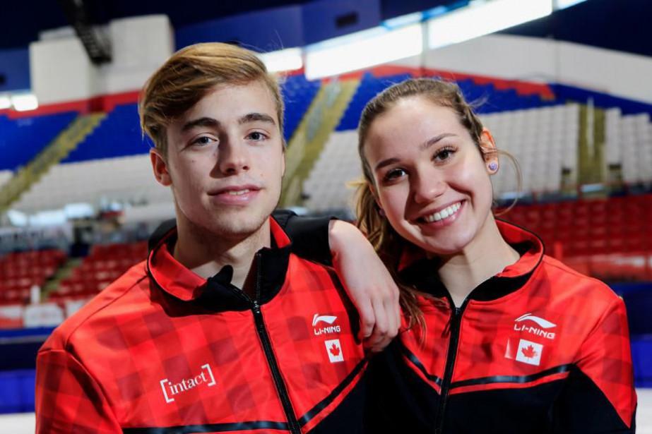 Nicolas Perreault et Courtney Sarault... (Photo Alain Roberge, La Presse)