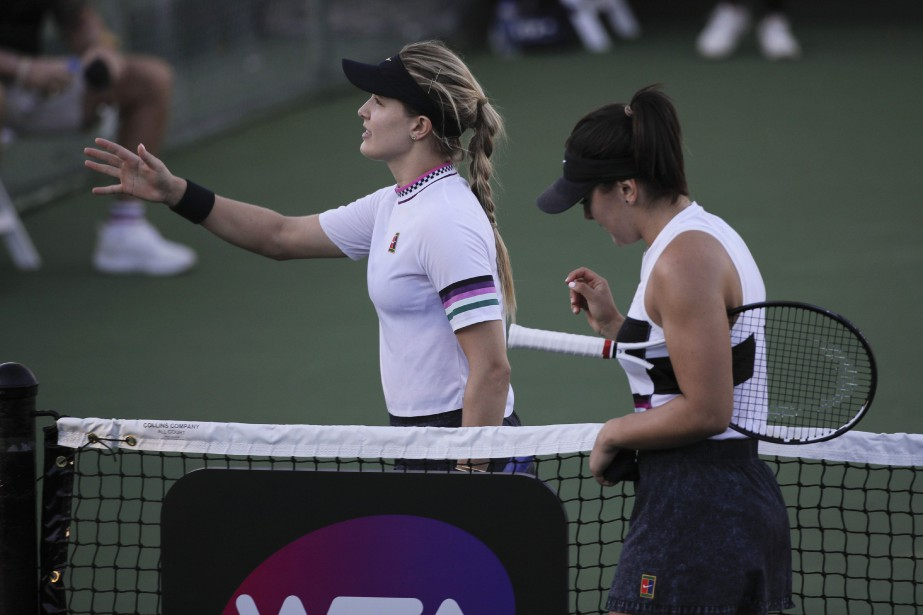 Eugenie Bouchard et Bianca Andreescu... (Photo Jae C. Hong, ASSOCIATED PRESS)