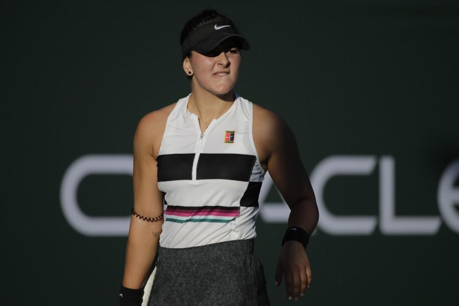 La joueuse de tennis canadienne BiancaAndreescu... (Photo Jae C. Hong, AP)
