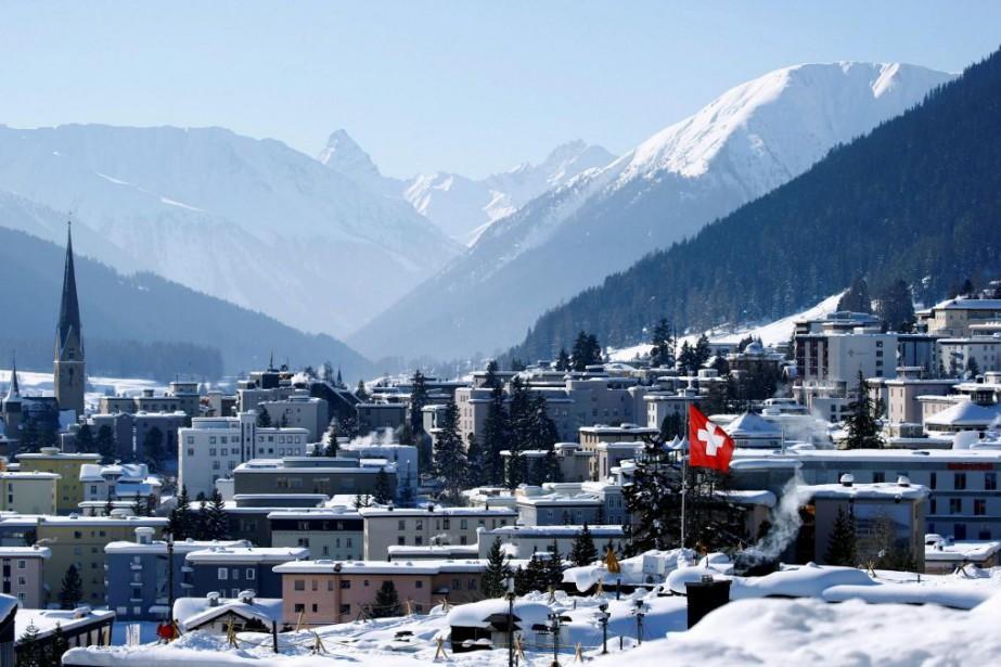 Davos, en Suisse.... (PHOTO ARND WIEGMANN, REUTERS)