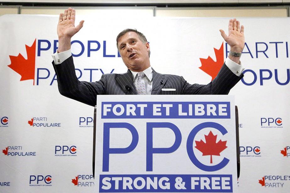 Le parti fondé par MaximeBernier, qui a claqué... (Photo PatrickDoyle, archives La Presse canadienne)