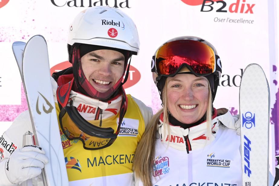 Mikaël Kingsbury a remporté l'or chez les hommes... (Photo BernardBrault, La Presse)