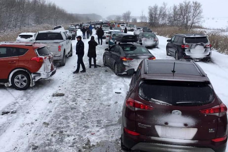Des photos et des images des deux accidents... (PHOTO TIRÉE DU COMPTE FACEBOOK DE MARIOLABRECQUE)