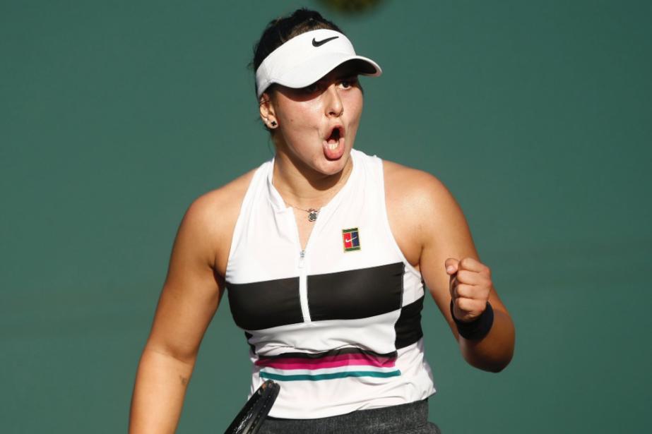 La joueuse de tennis canadienne BiancaAndreescu... (Capture d'écran tirée de Twitter (@TennisCanada))