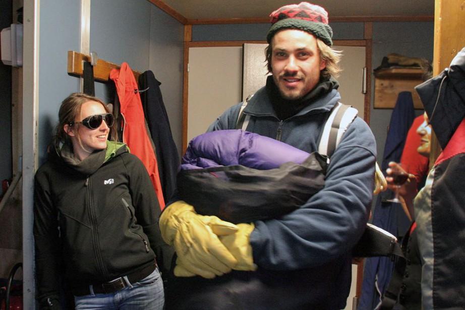 Marion Spée et Julien Labruyère, en Antarctique, en... (photo fournie par Julien Labruyère)