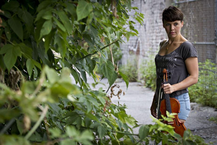 Sarah Neufeld, violoniste d'Arcade Fire... (Photo Olivier Jean, archives La Presse)