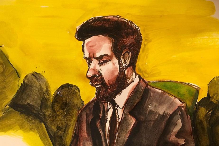 Jaskirat Singh Sidhu, dessiné lorsqu'il était devant le... (Photo Cloudesley Rook-Hobbs, PC)