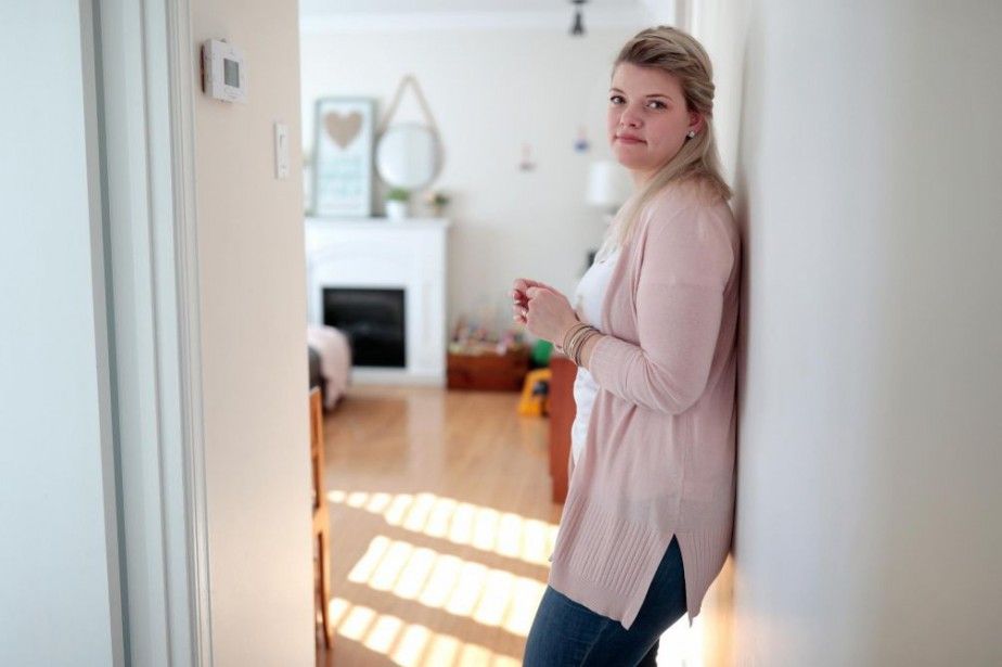Janie Bolduc était à 39semaines de grossesse quand... (Photo Martin Chamberland, La Presse)
