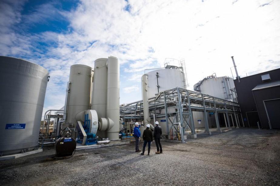 L'usine de biométhanisation de Varennes est en fonction... (PHOTO MARCO CAMPANOZZI, Archives LA PRESSE)