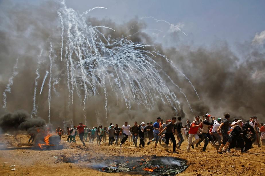 L'aide que les États-Unis fournissent... (Photo MOHAMMED ABED, archives AFP)