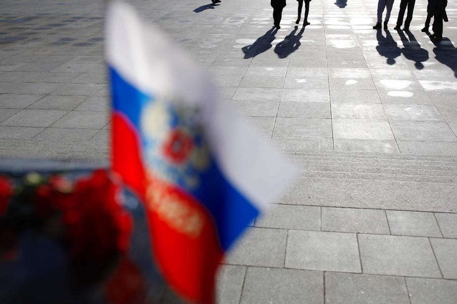 L'homme arrêté est Raouf Arachoukov.... (Photo ODD ANDERSEN, archives AFP)
