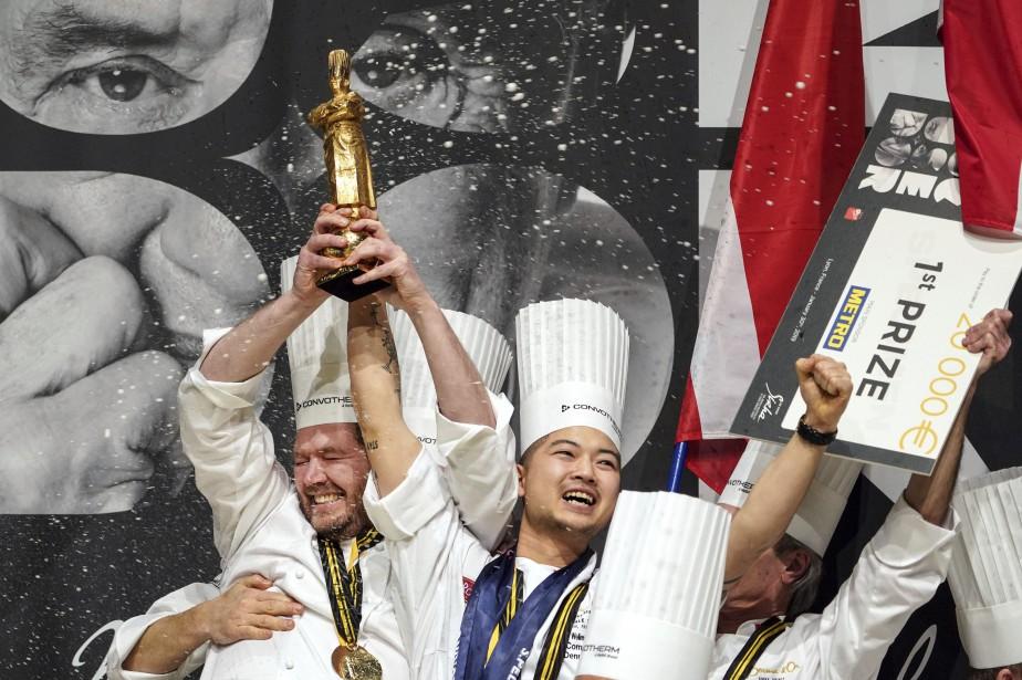 Le chef Kenneth Toft-Hansen célèbre la victoire du... (PHOTO LAURENT CIPRIANI, AP)