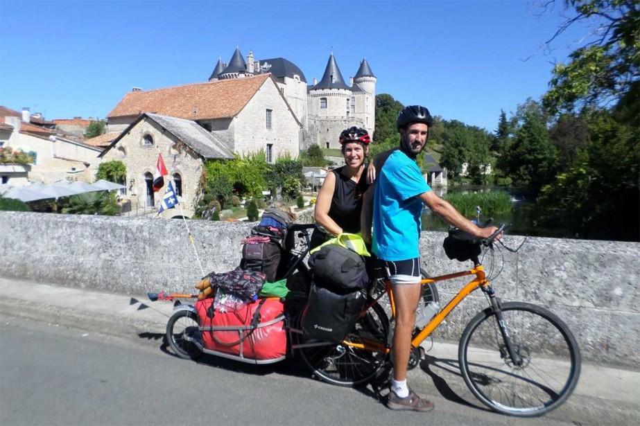 Nadia Bertrand et Sébastien Dubois ont voyagé en... (Photo fournie par Sébastien Dubois et Nadia Bertrand)